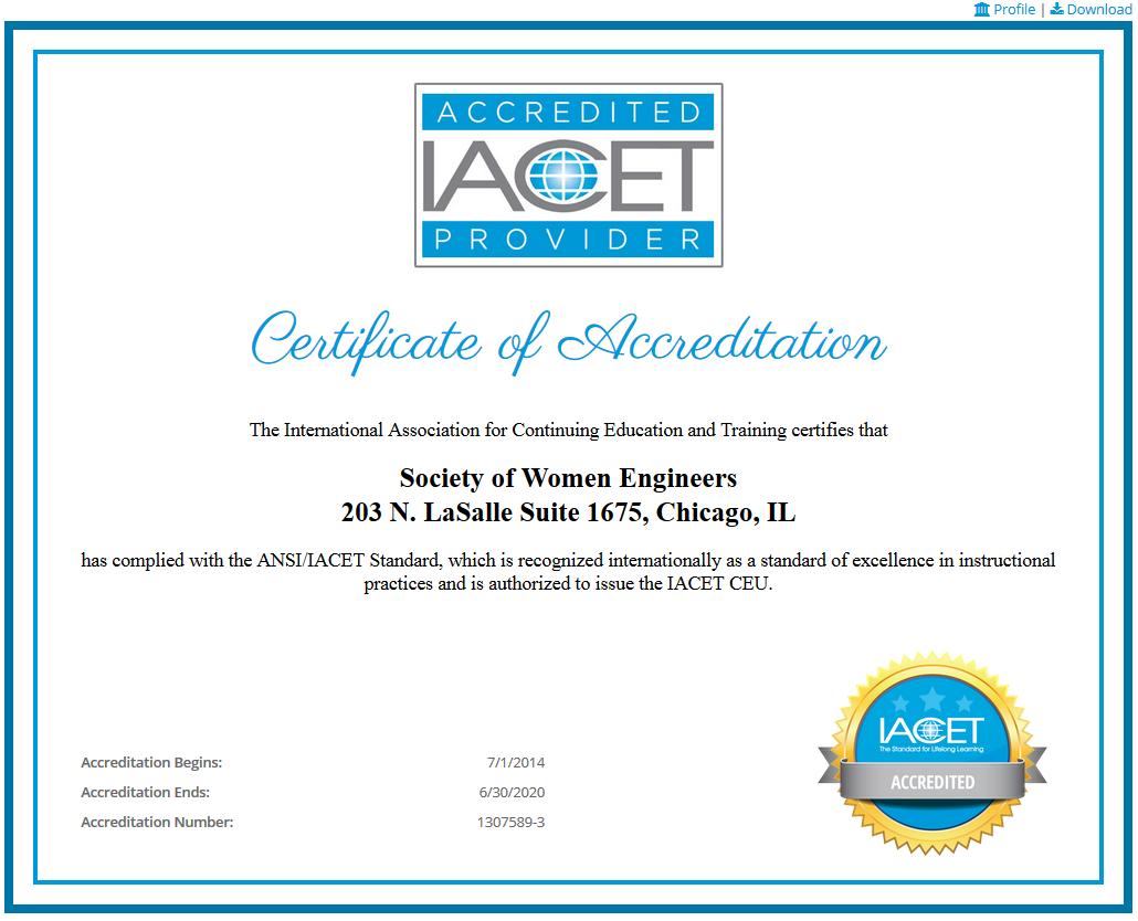 Iacet Implements Live Online Accreditation Certificates Iacet