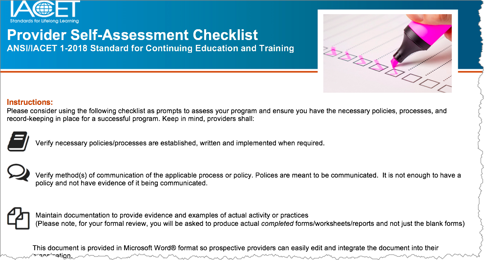 Accreditation Tip - Self-Audits and Annual Reporting - IACET
