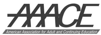 Logo for American Association for Adult Continuing Education