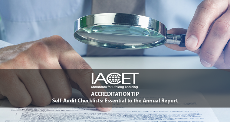 Self-Audit Checklists: Essential to the Annual Report image