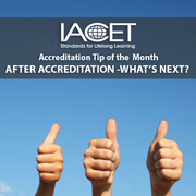 Accreditation Tip of the Month - After Accreditation, What Comes Next? Image