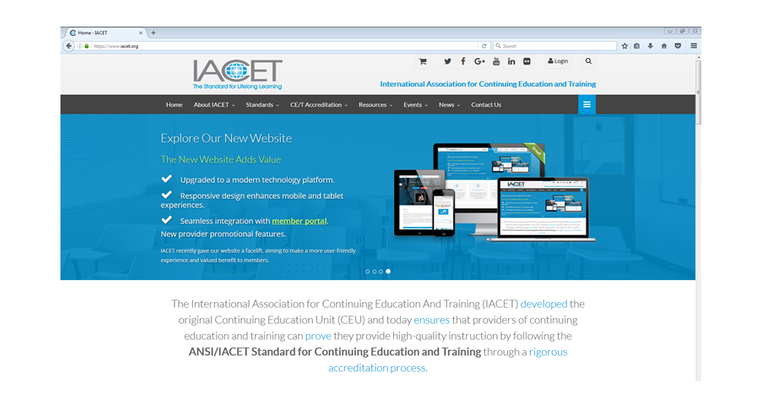 New IACET Website Adds Value for Members image