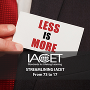 From 73 to 17 - Streamlining IACET Re-accreditation Image