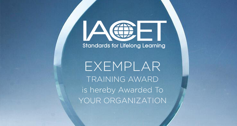 Who Has Won The IACET Exemplar Award? image