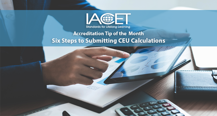 Six Steps to Submitting CEU Calculations image